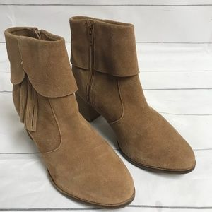Matisse Sz 8.5 Suede Chunky Fringe Boots: S13